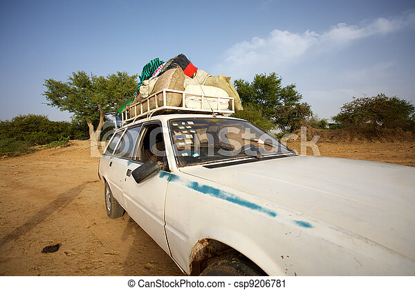 Loaded African taxi - csp9206781