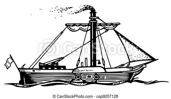 Steam ship - csp9207128