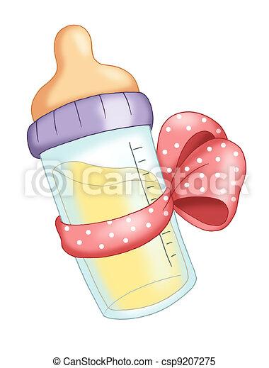 pink baby bottle - csp9207275