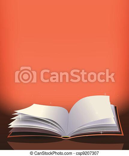 Magic Book Background - csp9207307