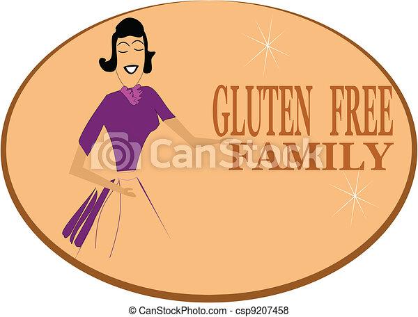 gluten free family - csp9207458