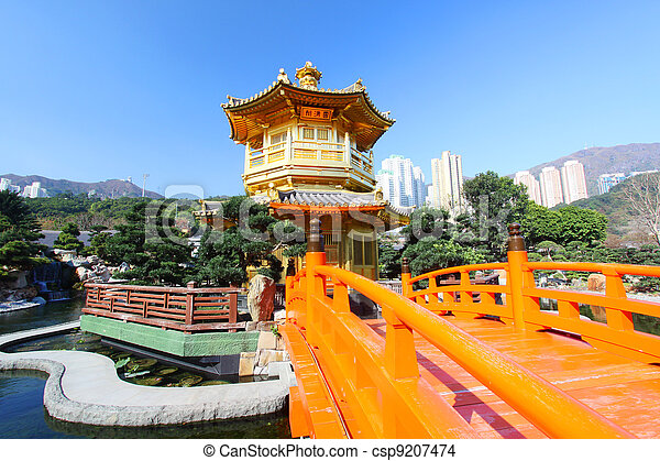 The Pavilion of Absolute Perfection in the Nan Lian Garden - csp9207474