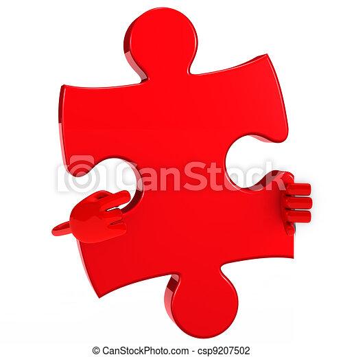 puzzle figure point - csp9207502