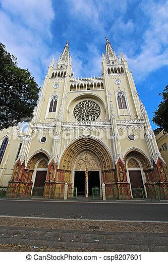 Cathedral in Guayaqui, Ecuador - csp9207601
