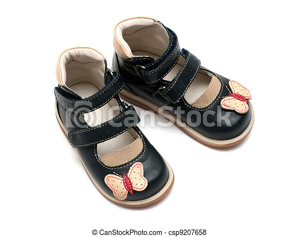 A pair of an orthopedic children's shoes - csp9207658