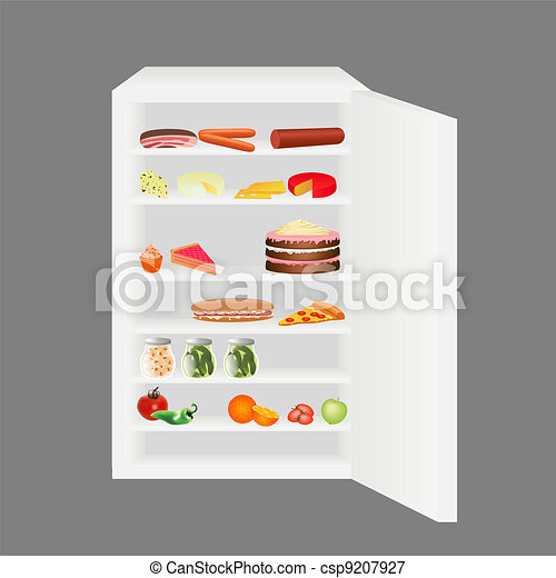 Vektor voll kühlschrank stock illustration lizenzfreie