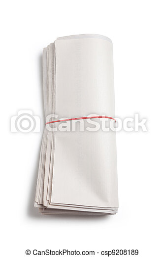 Blank Newspaper Roll - csp9208189