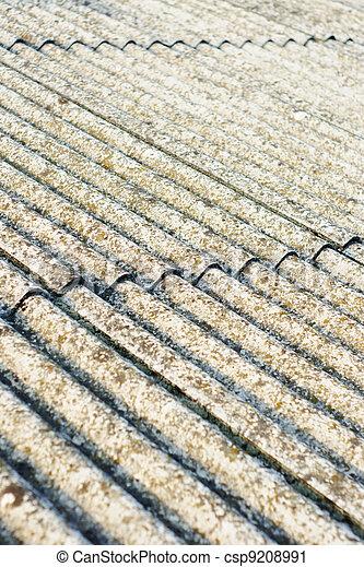stock fotografie von asbest dach eternit eternit dach h lle verwahrlost csp9208991. Black Bedroom Furniture Sets. Home Design Ideas