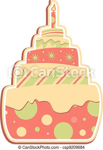 Layered Cake  - csp9209684