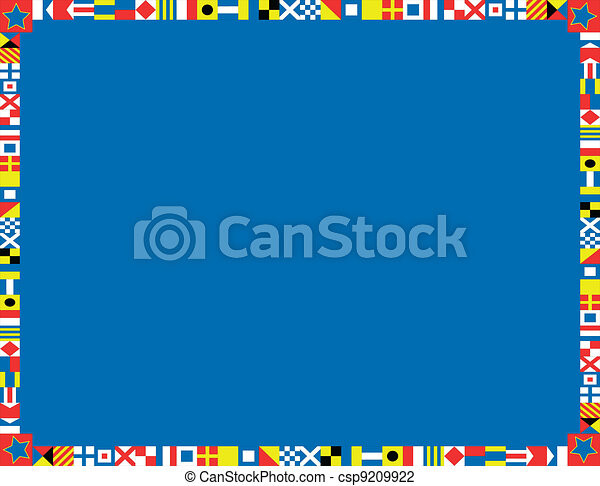 EPS8 Vector Nautical Flag Border - csp9209922
