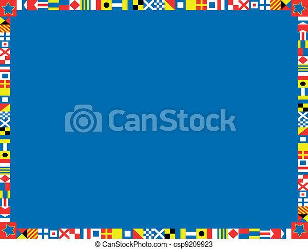 Nautical Flag Border - csp9209923