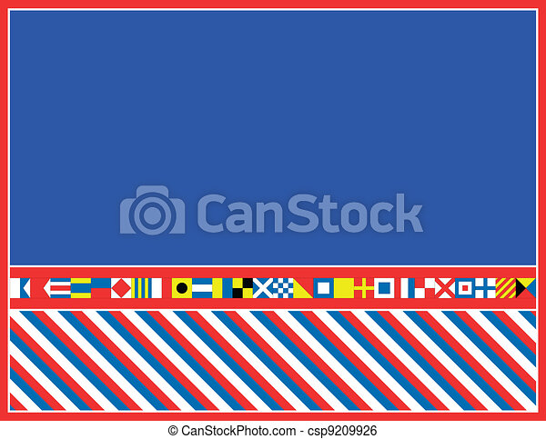 EPS8 Vector Nautical Flag Border - csp9209926