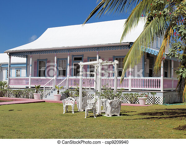 Traditional Caribbean House - csp9209940