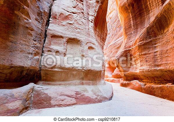The Siq - narrow gorge to ancient city Petra - csp9210817