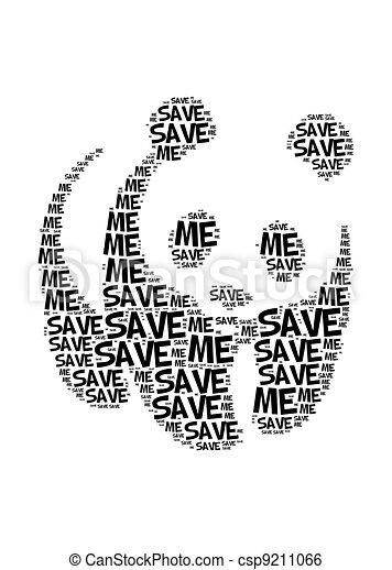 Save Me Panda Text Graphic And Arrangement Clip Art Instant