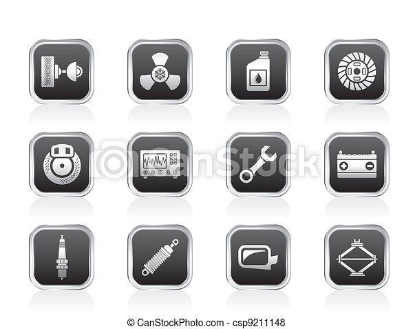 Car Parts and Services icons - csp9211148