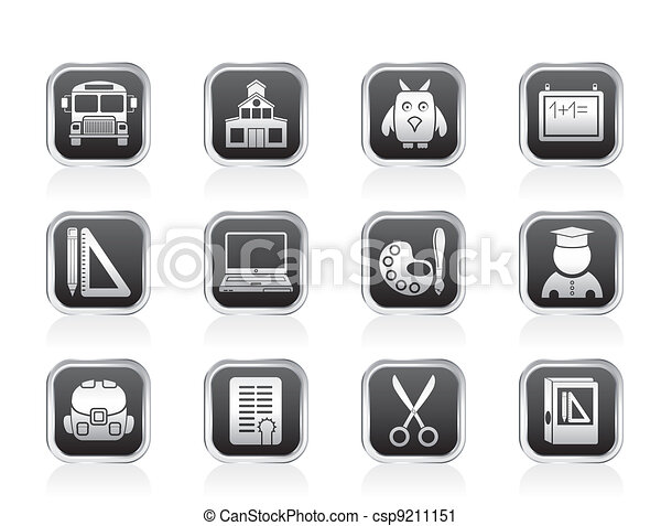 School and education objects - csp9211151