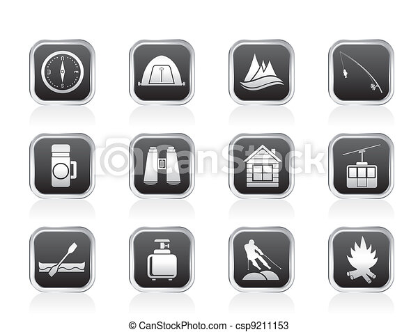 travel, Tourism and vacation icons - csp9211153
