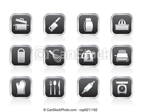 Kitchen and household Utensil Icons - csp9211162