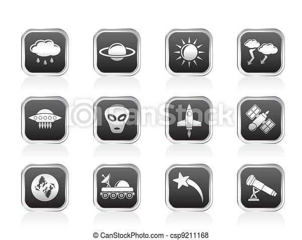 Astronautics and Space icons - csp9211168