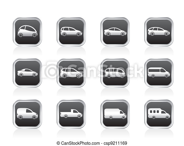 different types of cars icons - csp9211169