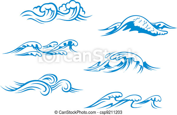 Blue sea waves - csp9211203