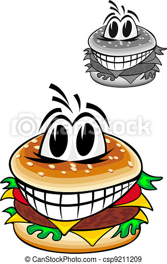Cartoon hamburger - csp9211209