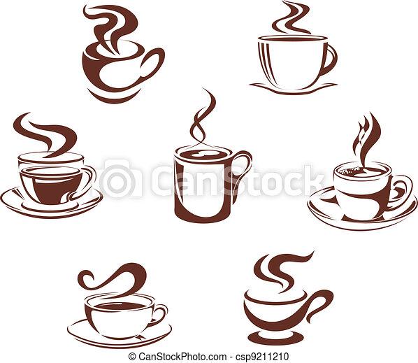 Coffee and tea symbols - csp9211210