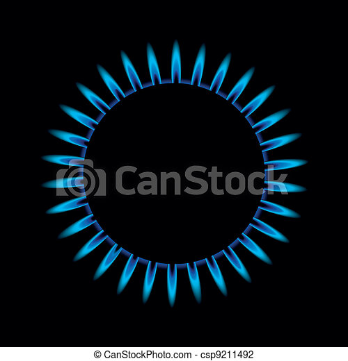 gas flame from above - csp9211492