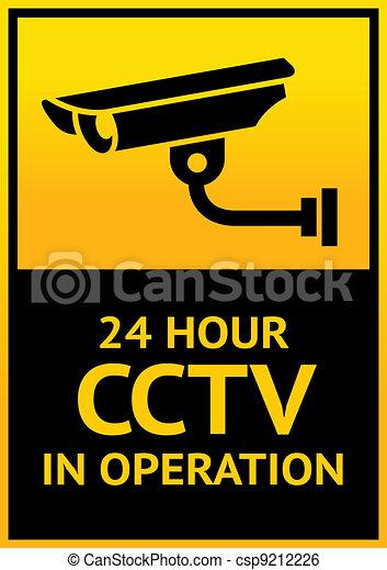 Sign security camera - csp9212226