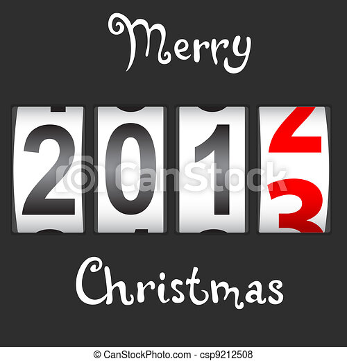 2013 New Year counter, vector. - csp9212508