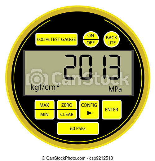 2013 New Year modern digital gas manometer - csp9212513