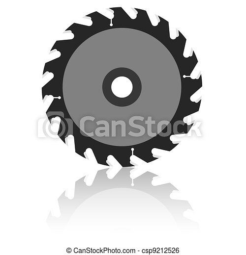 Circular saw blade on a white background. - csp9212526