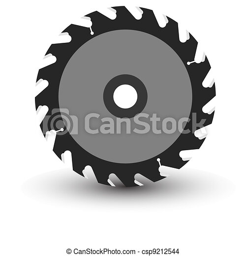 Circular saw blade on a white background. - csp9212544