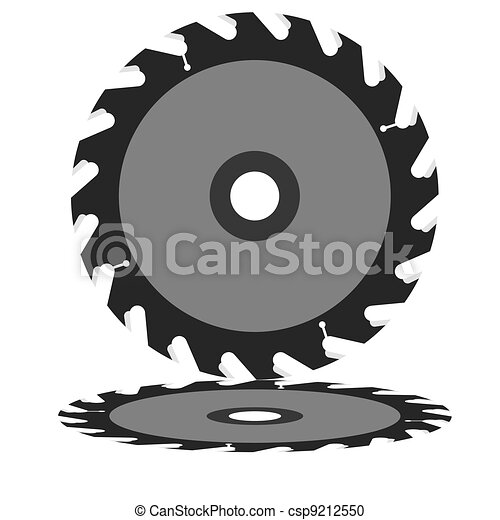 Circular saw blade on a white background. - csp9212550