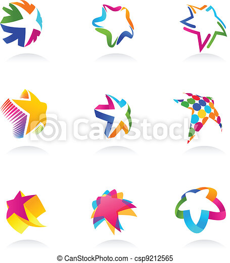 collection of star icons, vector - csp9212565