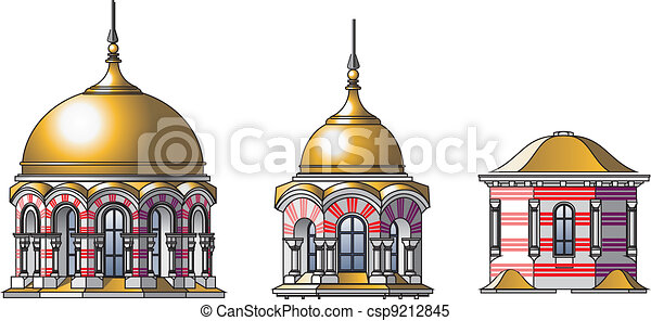 Russian Castles Drawing Vector Vector Castle Domes