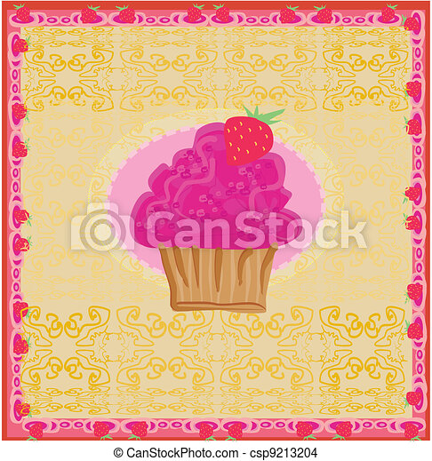 Lovely Cupcake Design - csp9213204