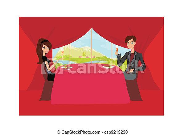 Young couple flirt  - csp9213230