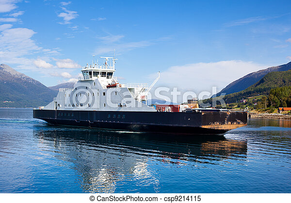 Ferry in Norway - csp9214115