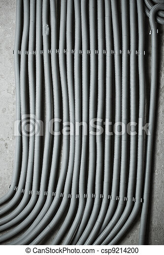 Electric wires on wall - csp9214200