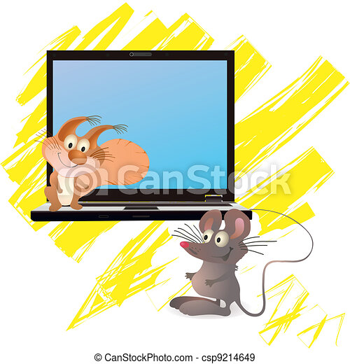 Little mouse and squirrel yellow - csp9214649