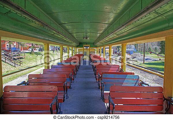 Inside an excursion train - csp9214756