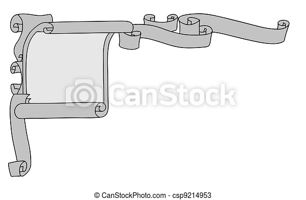 aging paper on white background, vector illustration - csp9214953