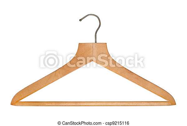 Clothes hanger on white background. - csp9215116