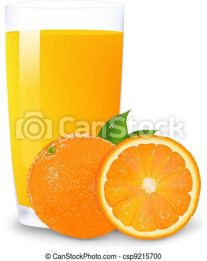 Orange Juice And Slices Of Orange - csp9215700