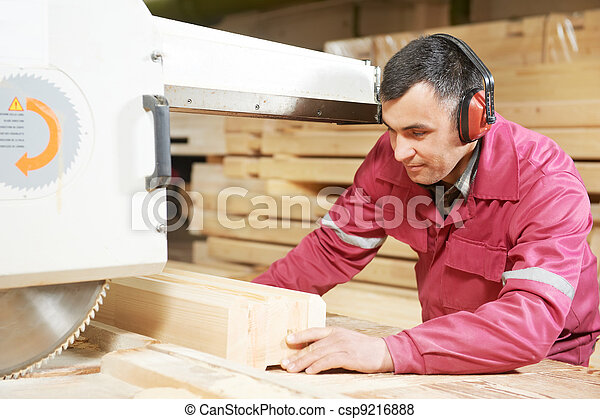 closeup carpentry wood cross cutting - csp9216888