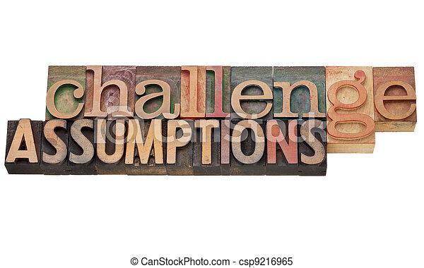 challenge assumptions - csp9216965