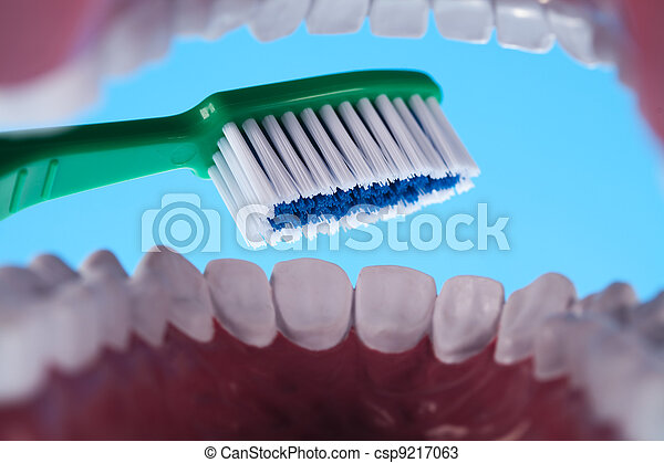 Teeth, Dental health care objects - csp9217063