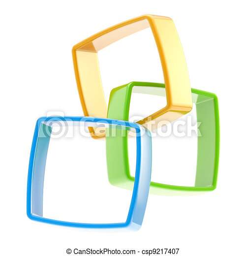 Abstract background of linked squares - csp9217407